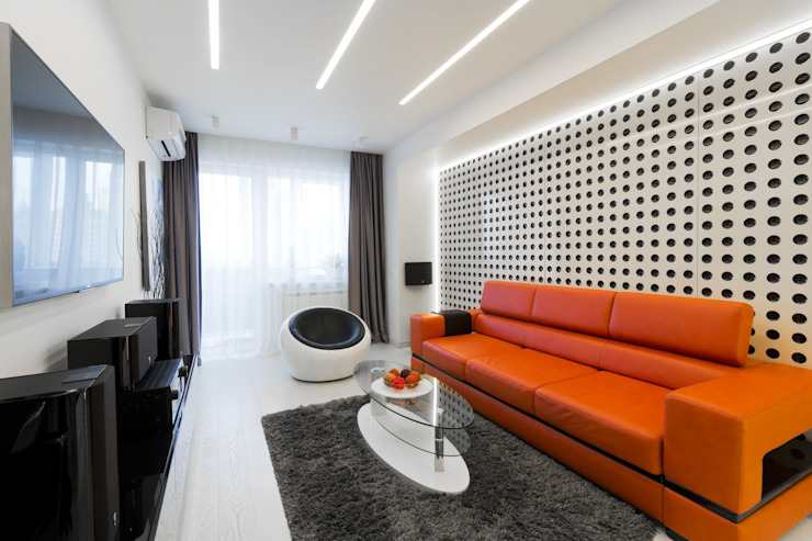 Minimalist living room by Rustem Urazmetov Minimalist