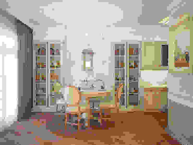 Таунхаус в классическом стиле Столовая комната в классическом стиле от Настасья Евглевская Классический Дерево Эффект древесины
