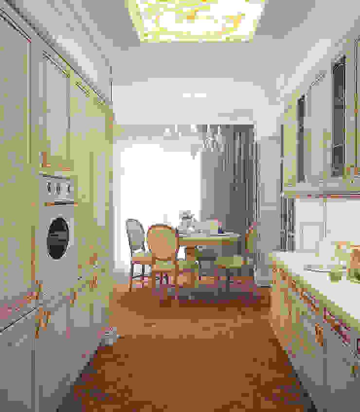Таунхаус в классическом стиле Кухня в классическом стиле от Настасья Евглевская Классический Дерево Эффект древесины