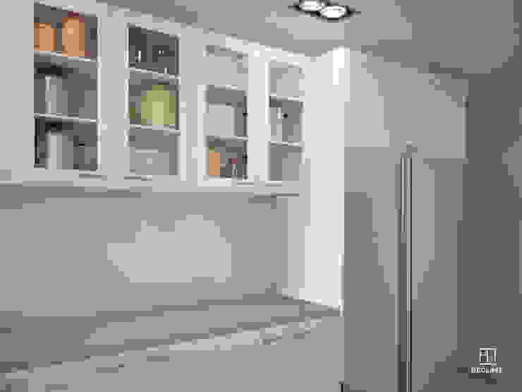 現代廚房設計點子、靈感&圖片 根據 DECLASE 現代風 磁磚