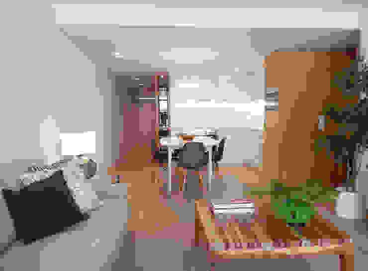 AM Flat Salas de estar modernas por EMF arquitetura Moderno