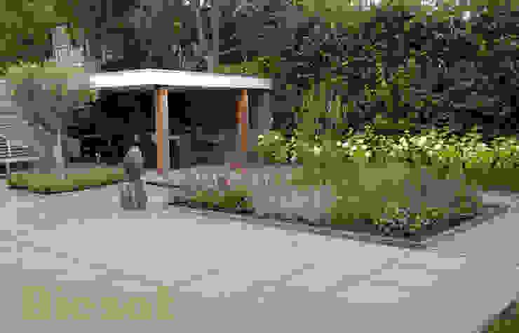 Ontwerp en aanleg tuin in Bergen: modern  door Biesot, Modern