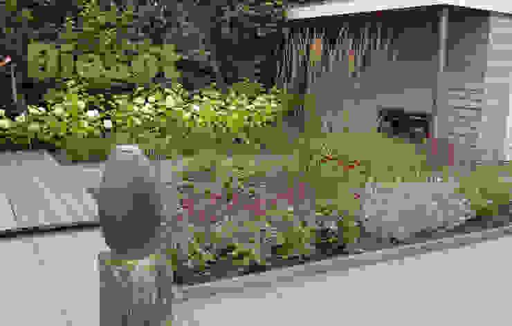 Beplantingvak tuin in Bergen Moderne tuinen van Biesot Modern