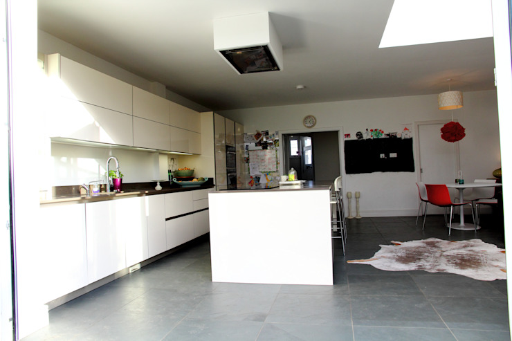 Ground Floor Extension, Hilton Ave London Building Renovation Kitchen
