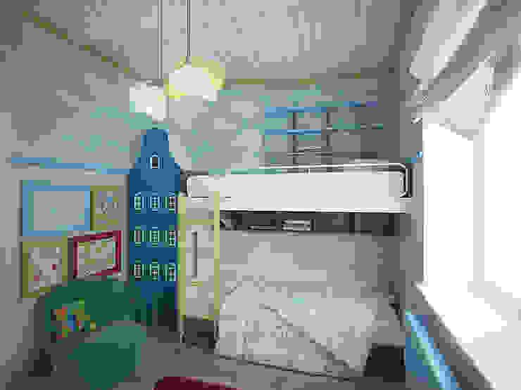 Projekty,  Pokój dziecięcy zaprojektowane przez студия Виталии Романовской, Wiejski
