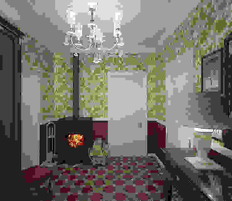 Country style corridor, hallway& stairs by студия Виталии Романовской Country