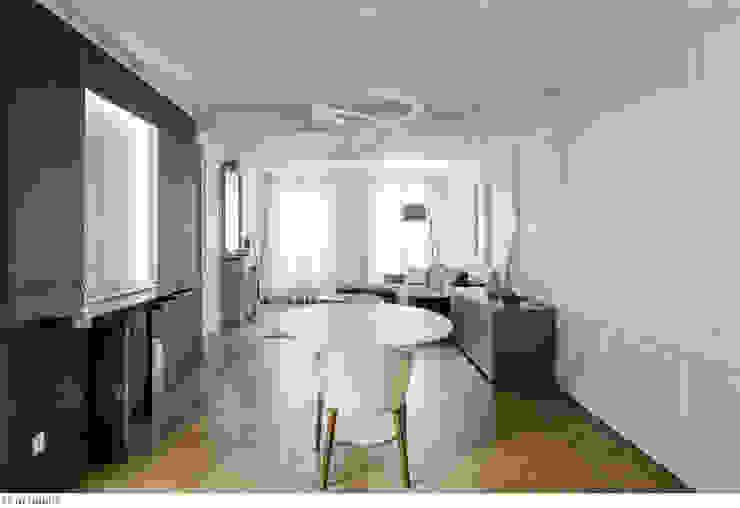 Espace partagé Salon minimaliste par claire Tassinari Minimaliste