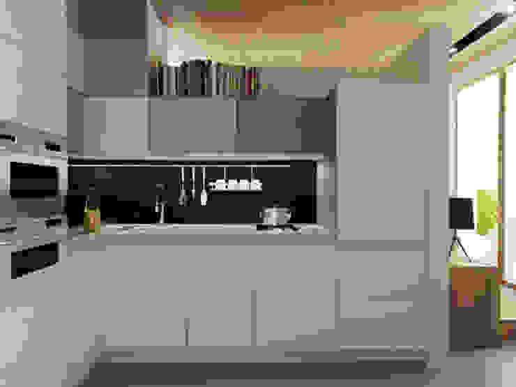 Кухня Кухня в скандинавском стиле от ARCHWOOD, дизайн-бюро Скандинавский Дерево Эффект древесины