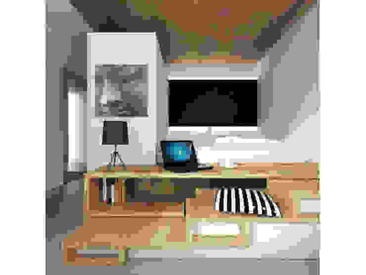 Спальня Спальня в скандинавском стиле от ARCHWOOD, дизайн-бюро Скандинавский Дерево Эффект древесины