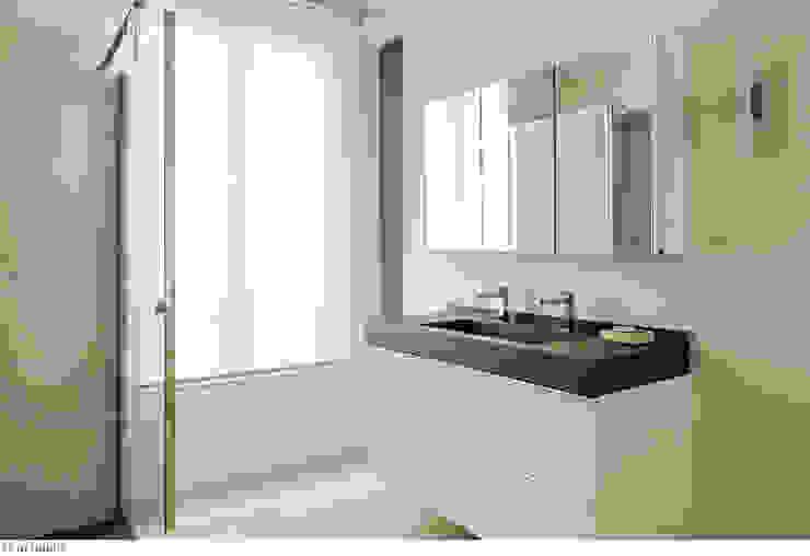 Une salle de bain vaste et lumineuse Salle de bain minimaliste par claire Tassinari Minimaliste