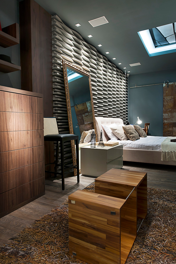 Apartamento do Homem Moderno - Morar Mais por Menos Vitoria 2015 Quartos modernos por Cristiane Locatelli Arquitetos & Associados Moderno