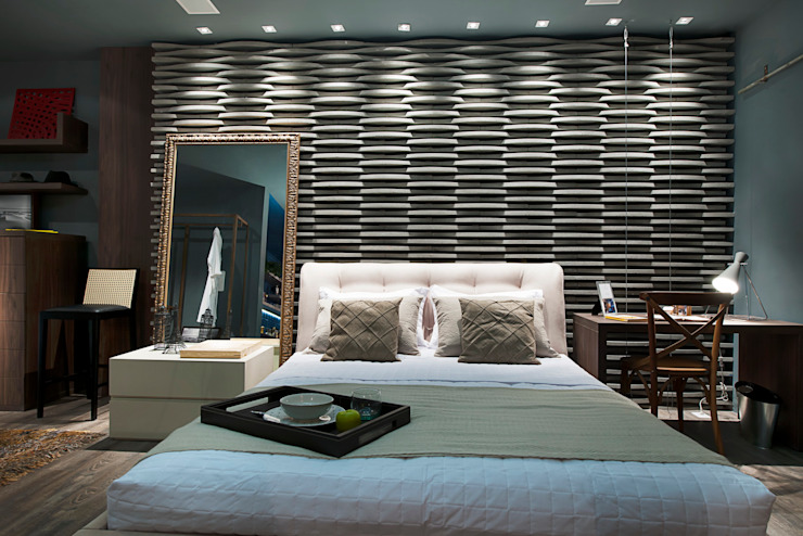 Modern style bedroom by Cristiane Locatelli Arquitetos & Associados Modern