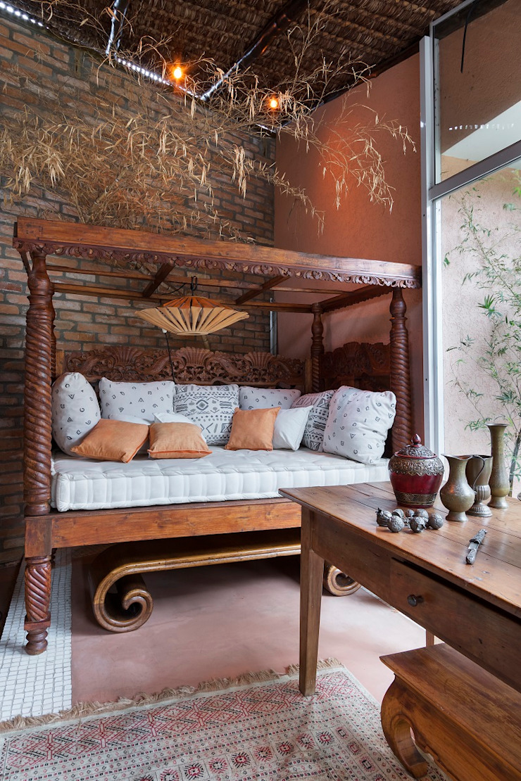 Cactus Arquitetura e Urbanismo Mediterranean style balcony, veranda & terrace