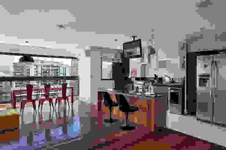Cobertura Barra Cozinhas modernas por ASP Arquitetura Moderno