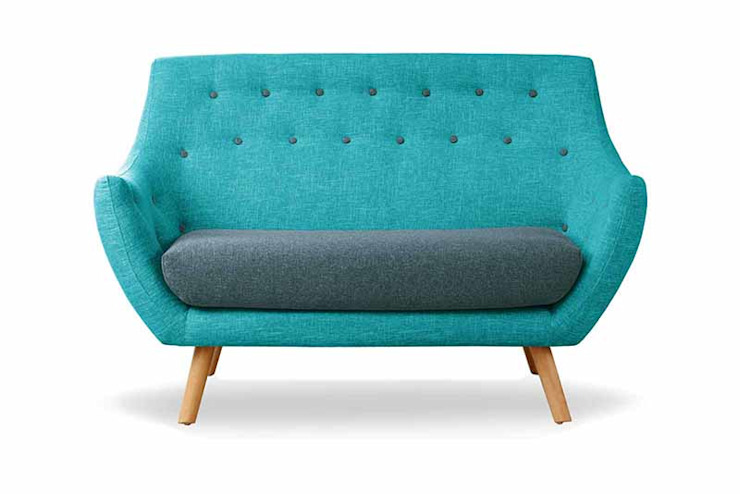 Finn Juhl Style Poet Sofa, Luxor Teal Two Tones homify SalonesSofás y sillones