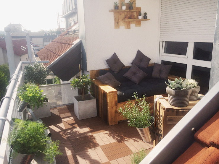 Balcones y terrazas mediterráneos de Esther Jonitz Mediterráneo