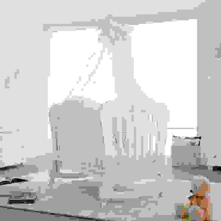 'Prestige Principe' Glittery white baby cot by Pali: modern  by My Italian Living, Modern Wood Wood effect