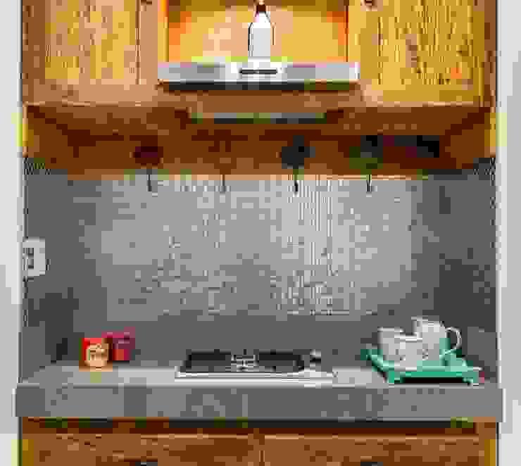 Apartamento Jardins Cozinhas rústicas por Cactus Arquitetura e Urbanismo Rústico