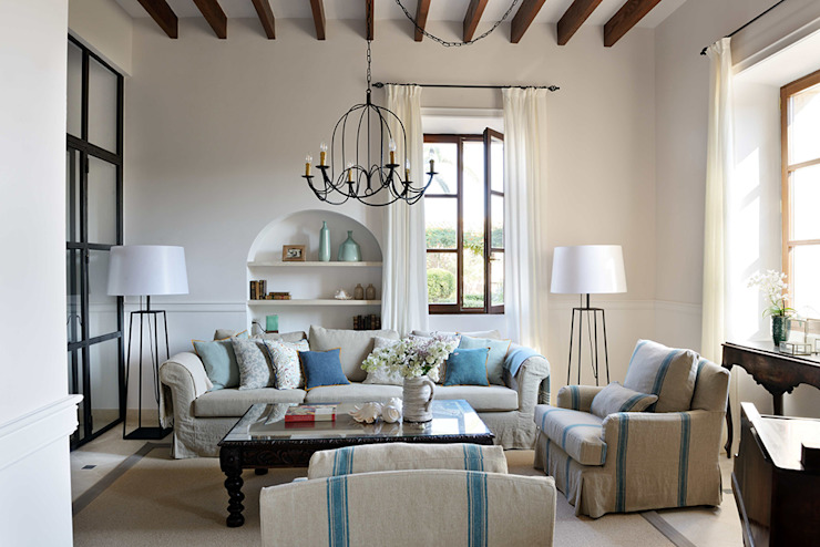 HOTEL CAL REIET – THE MAIN HOUSE Mediterranean style living room by Bloomint design Mediterranean
