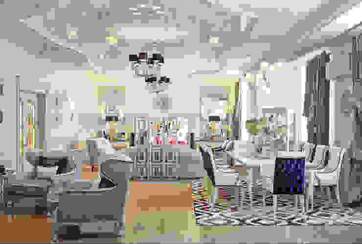 Гостиная в частном доме: Гостиная в . Автор – Sweet Home Design, Модерн