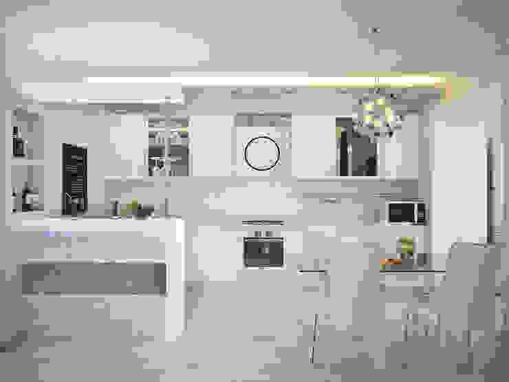 Дизайн проект квартиры 98 м2 Кухня в стиле модерн от Artstyle Модерн