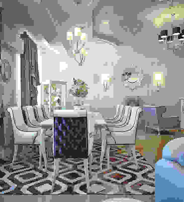 Гостиная в частном доме Гостиная в стиле модерн от Sweet Home Design Модерн