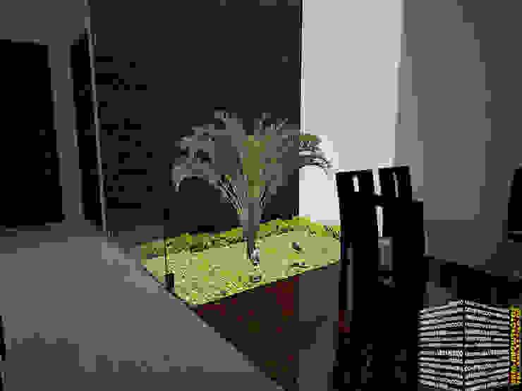 Minimalist corridor, hallway & stairs by HHRG ARQUITECTOS Minimalist