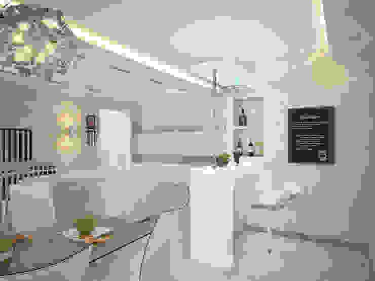 Дизайн проект квартиры 98 м2 Гостиная в стиле модерн от Artstyle Модерн