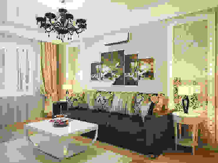 Дизайн проект квартиры 75,2 Гостиная в классическом стиле от Artstyle Классический