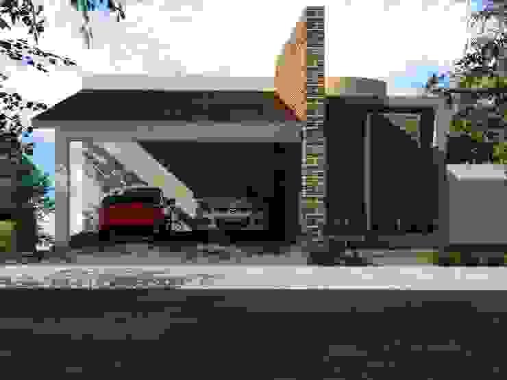 CASA PD – SANTA ISABEL Casas modernas de Arquitectura . Diseño Moderno Ladrillos