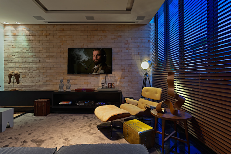 Modern media room by homify Modern