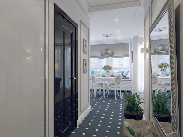 Volkovs studio Couloir, entrée, escaliers classiques