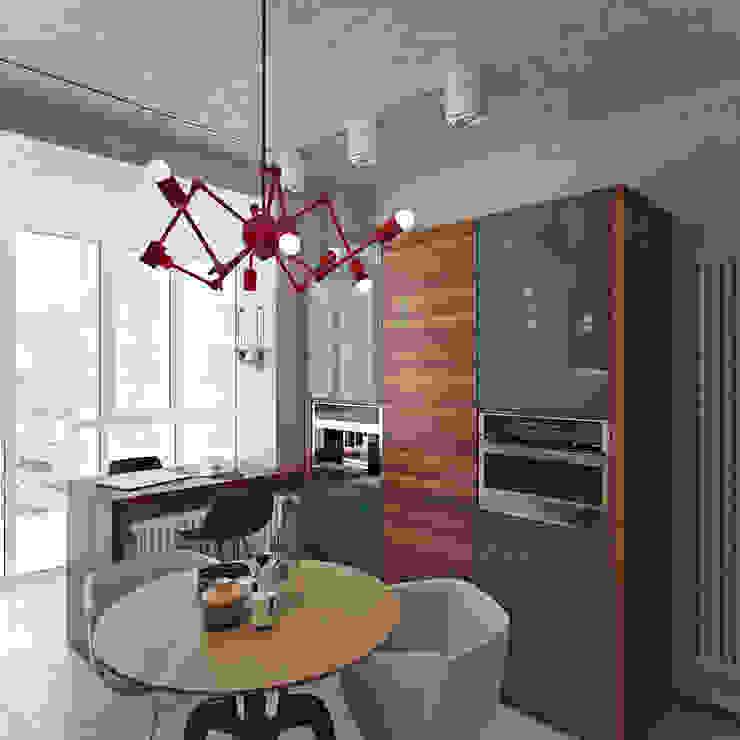 Industrial style kitchen by Студия дизайна Марии Губиной Industrial