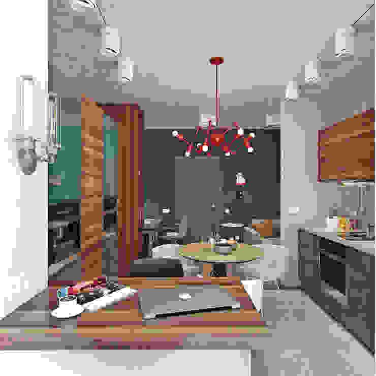 Industrial style dining room by Студия дизайна Марии Губиной Industrial