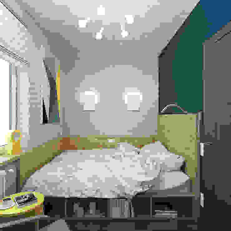 Small bedroom by Студия дизайна Марии Губиной , Industrial