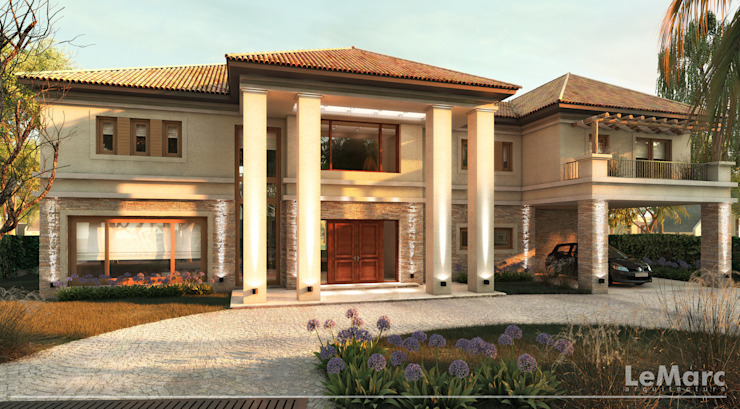 Estudio JP Mediterranean style house Beige