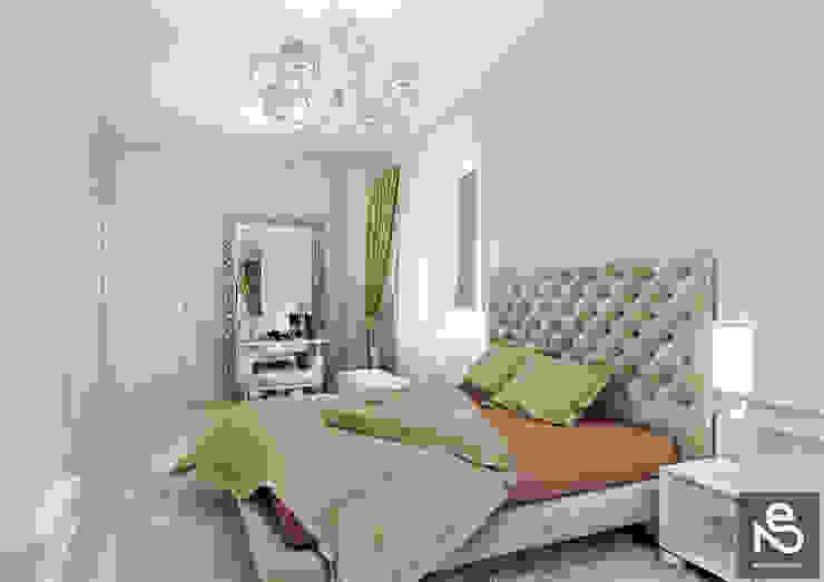 Projekty,  Sypialnia zaprojektowane przez Studio Eksarev & Nagornaya, Eklektyczny