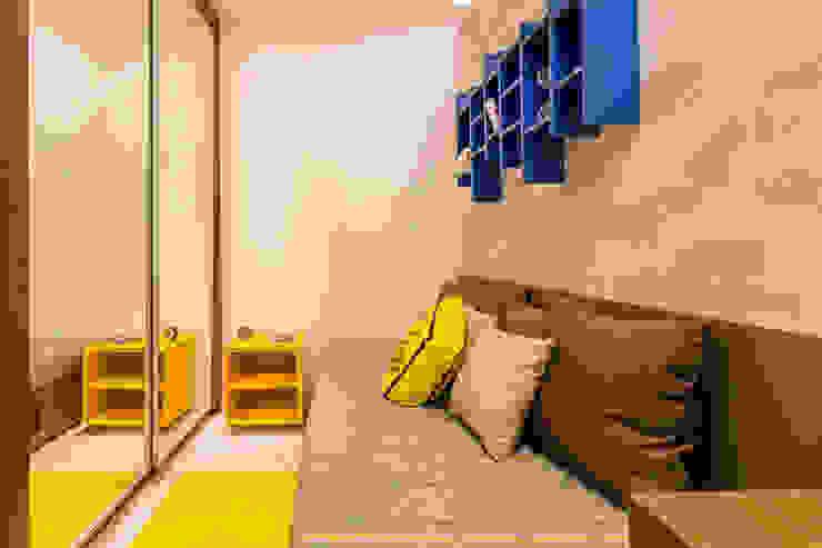 Modern style bedroom by Flávio Monteiro Arquitetos Associados Modern MDF