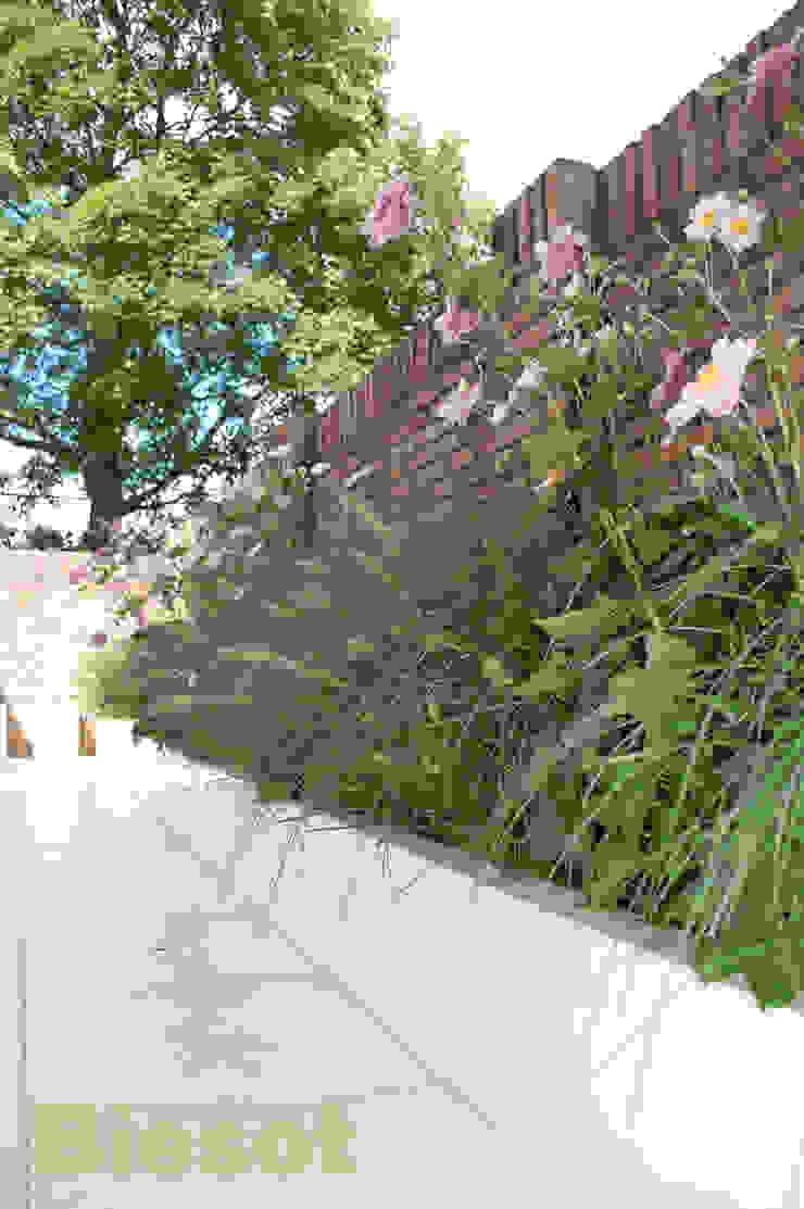 Witte tuin Moderne tuinen van Biesot Modern