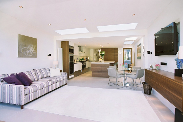 Swaffield Road Nowoczesny salon od Concept Eight Architects Nowoczesny