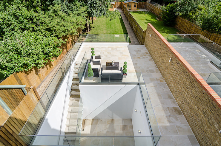 Oakhill Road, Putney Balcones y terrazas de estilo moderno de Concept Eight Architects Moderno