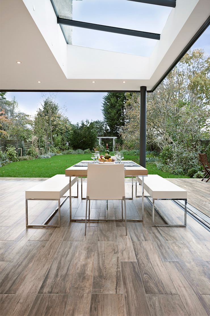 Woodville Gardens Balcone, Veranda & Terrazza in stile moderno di Concept Eight Architects Moderno