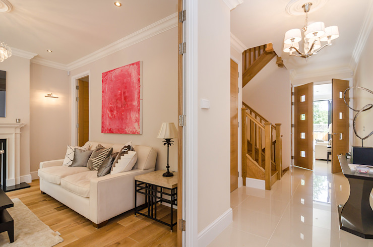 Oakhill Road, Putney Salones de estilo moderno de Concept Eight Architects Moderno
