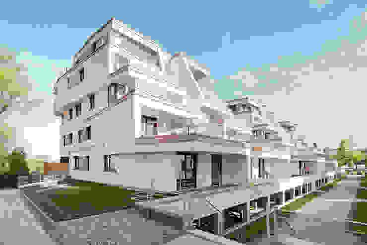 Neubau Terrassenwohnen Elbbahnhof Minimalistische Häuser von arc architekturconzept GmbH Minimalistisch