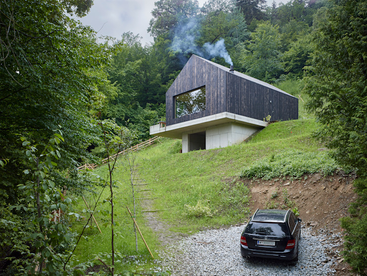 Modern houses by Backraum Architektur Modern Wood Wood effect