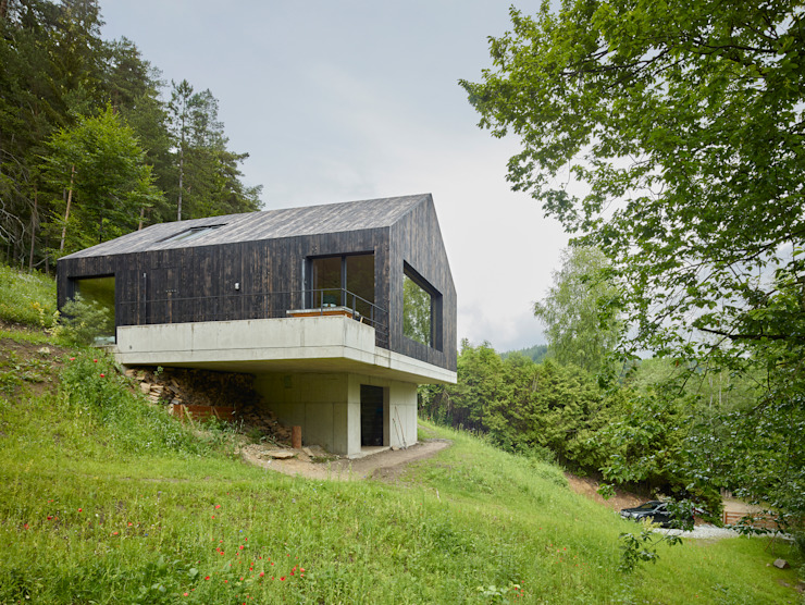 de Backraum Architektur Moderno Madera Acabado en madera