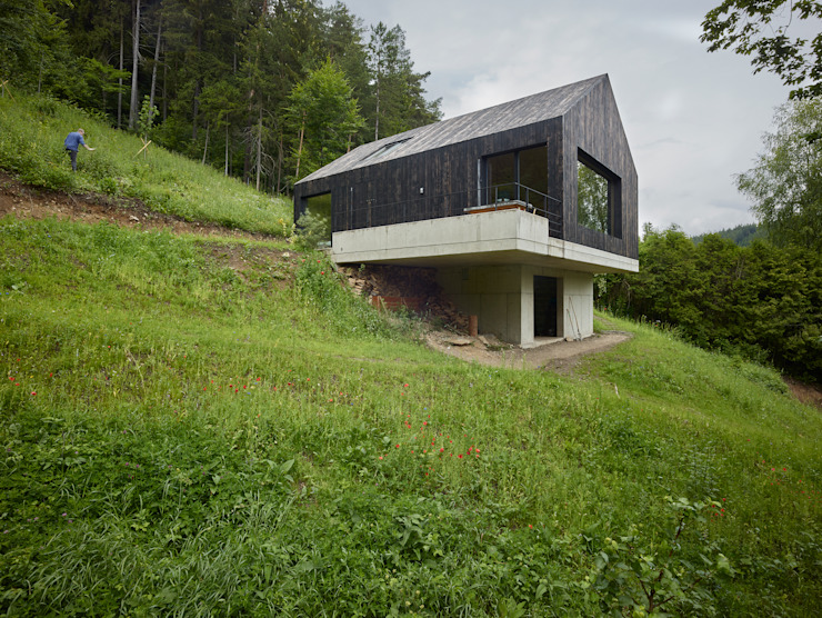 Houses by Backraum Architektur, Modern Wood Wood effect