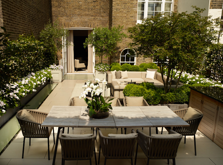 A London Roof Garden Bowles & Wyer Modern balcony, veranda & terrace