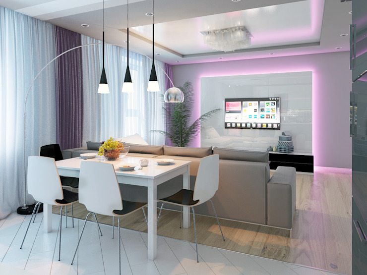 Квартира в Новомосковске Столовая комната в классическом стиле от Алина Насонова Классический