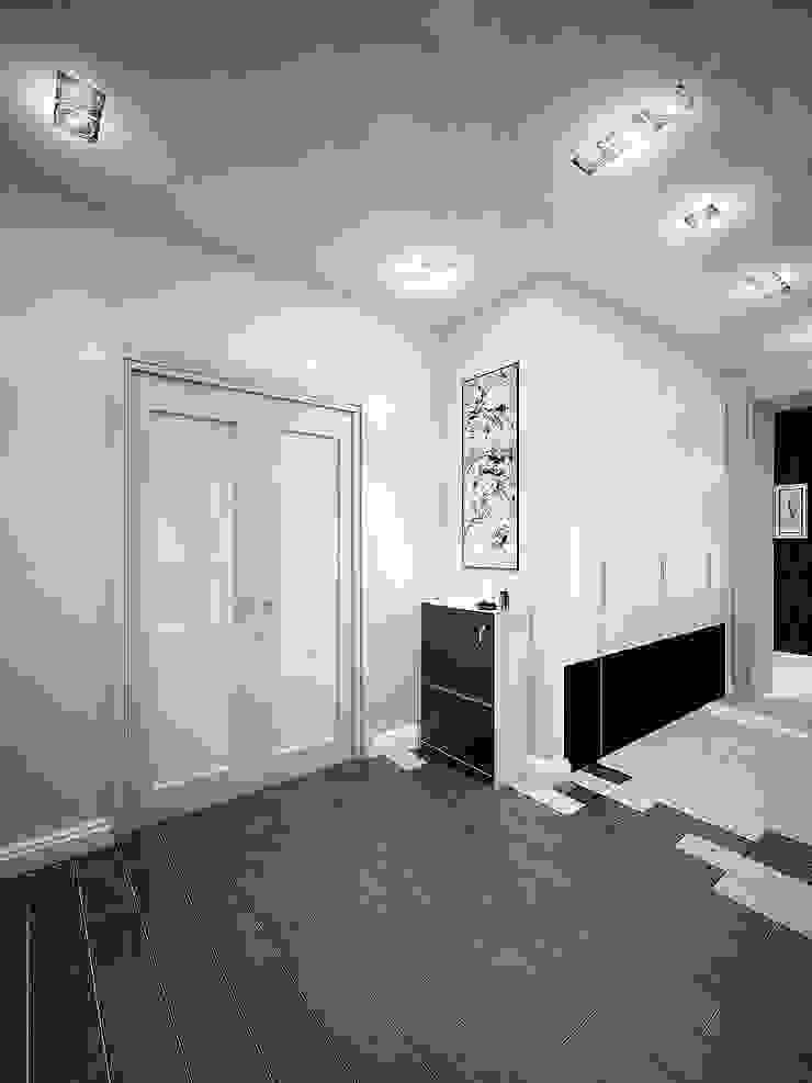 Квартира в Новомосковске Коридор, прихожая и лестница в классическом стиле от Алина Насонова Классический